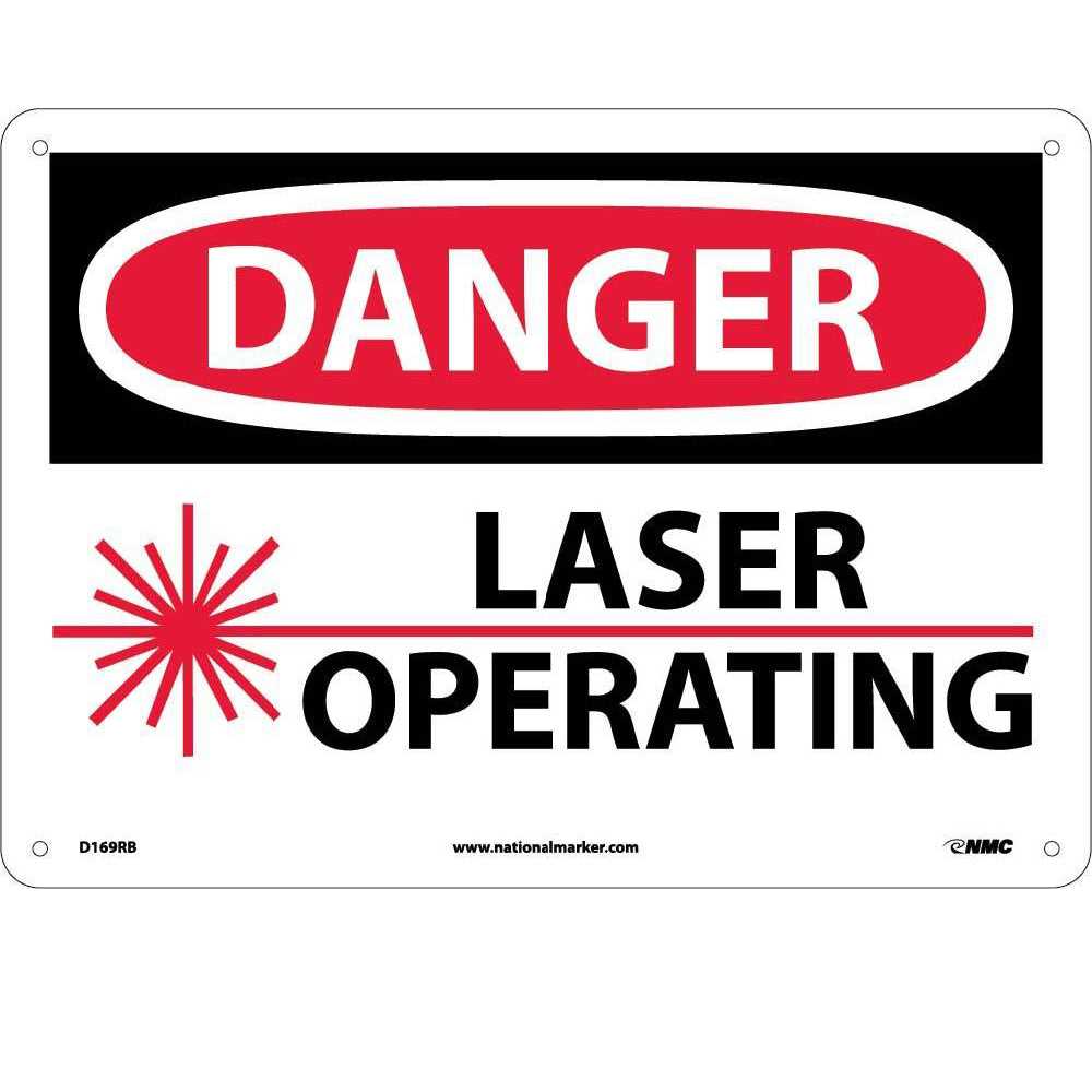 Danger Laser Operating Sign