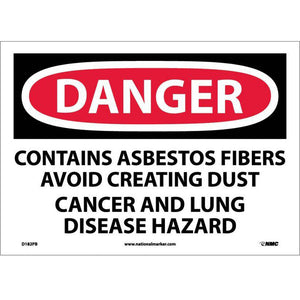 Contains Asbestos Fibers Avoid Cr Sign