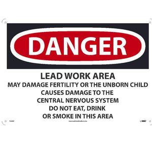 Danger Lead Work Area Sign