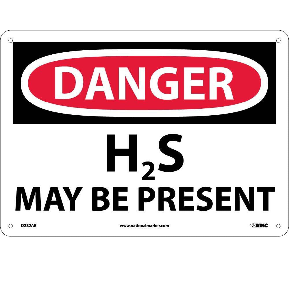 Danger H2S May Be Present Sign