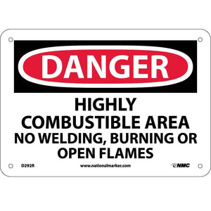 Highly Combustible Area No Welding Burni Sign
