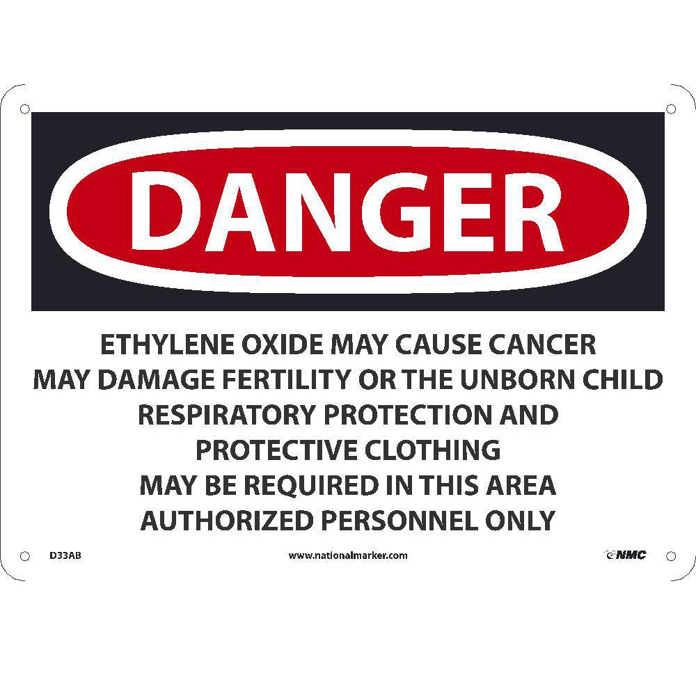 Danger Ethylene Oxide May Cause Cancer Sign