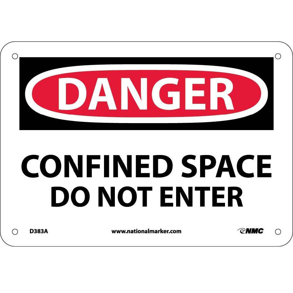 Danger Confined Space Do Not Enter Sign