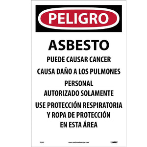 Danger Asbestos Dust Hazard Paper Hazard Sign - Pack of 100
