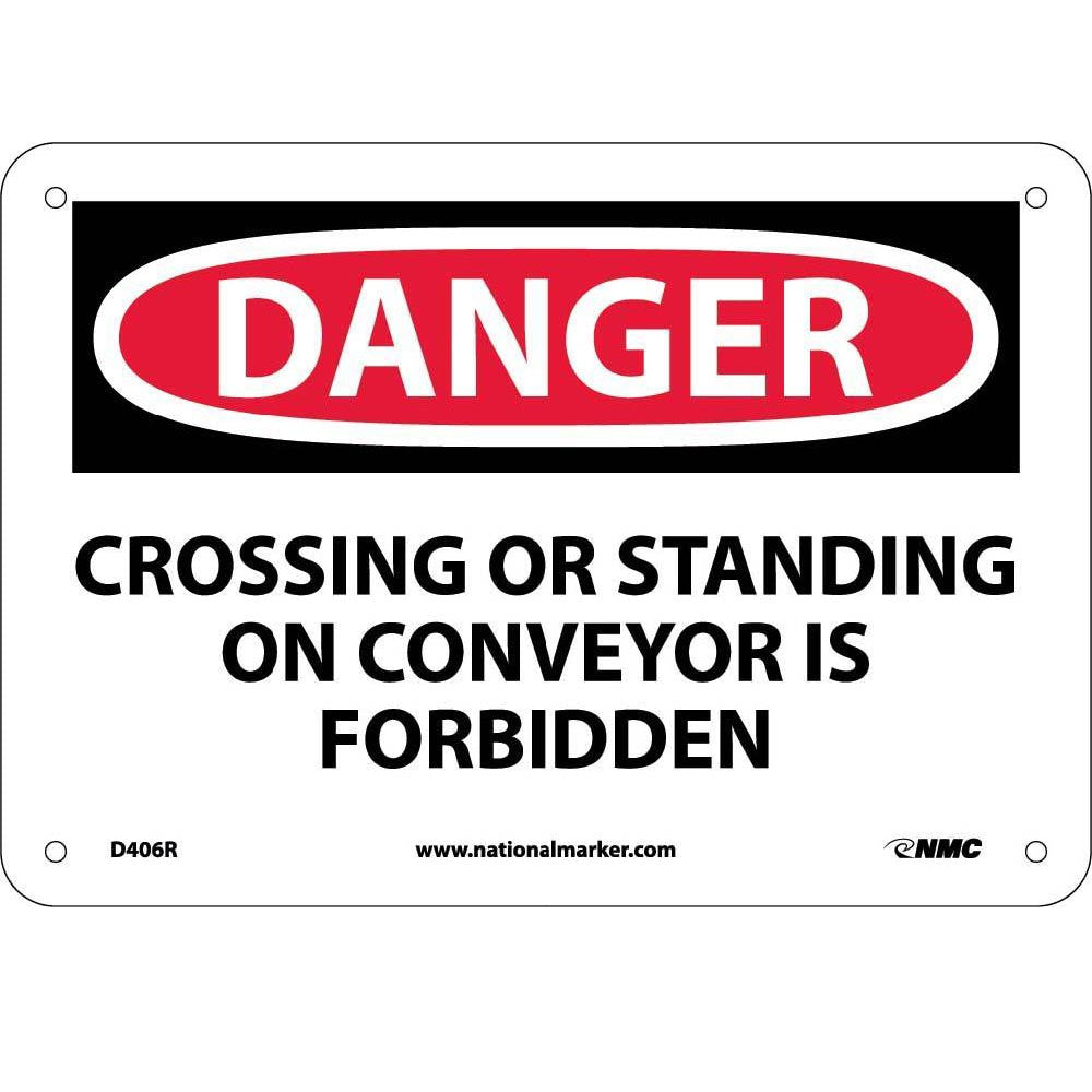 Crossing Or Standing On Conveyor Is Sign
