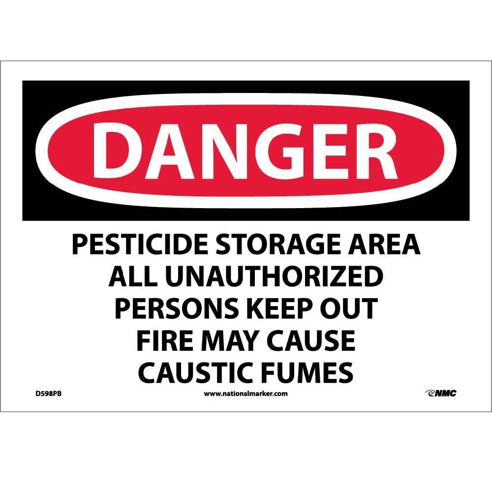 Danger Pesticide Storage Area Keep Out Sign