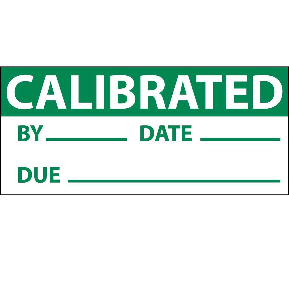 Calibrated Date & Initials Label - 3 Pack
