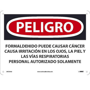 Formaldehyde May Cause Cancer Sign - Spanish