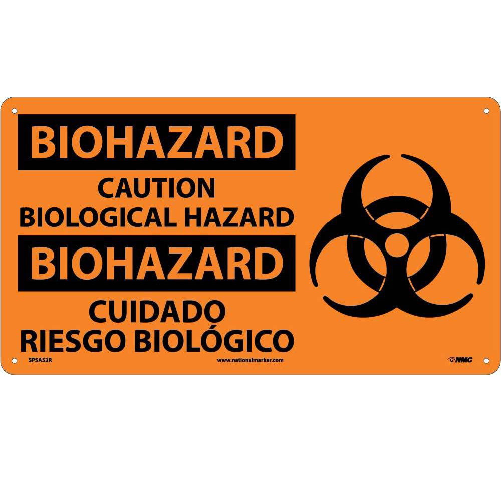 Biohazard Caution Biological Hazard Sign - Bilingual
