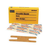 North By Honeywell Latex-Free Woven Knuckle Adhesive Bandage