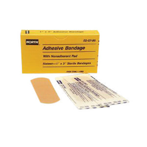 "North By Honeywell 1"" X 3"" Latex-Free Plastic Strip Adhesive Bandage"