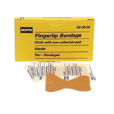 North By Honeywell Latex-Free Woven Fingertip Adhesive Bandage