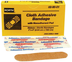 "North By Honeywell 1"" X 3"" Latex-Free Woven Strip Adhesive Bandage"
