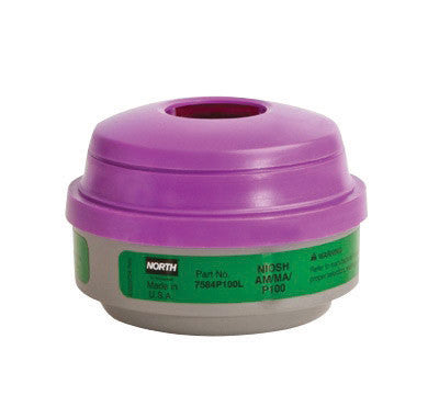 North by Honeywell Ammonia/Methylamine/Particulate P100 APR Cartridge For 5500, 7700, 5400 And 7600 Series Respirators