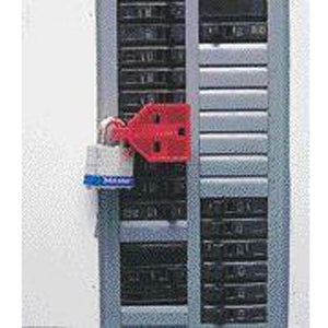 North Red C-Safe Single Pole Circuit Breaker Lockout