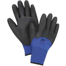 North by Honeywell Size 10 Black And Blue NorthFlex Cold Grip Textured Nylon Synthetic Lined Cold Weather Gloves With Knit Wrist And Foamed PVC Coated Knuckle