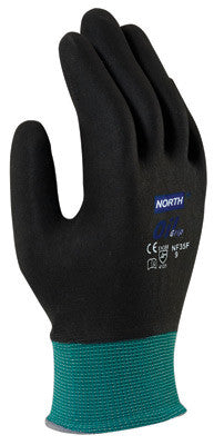 North by Honeywell 2X NorthFlex Oil Grip 13 Gauge Cut Resistant Black Nitrile Palm Coated Work Gloves With Dark Green Seamless Nylon Liner And Knit Wrist
