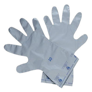 "North by Honeywell Size 8 Gray Silver Shield 4H 14 1/2"" 2.7 mil Polyethylene And Ethylene Vinyl Alcohol Ambidextrous Chemical Resistant Gloves With Smooth Finish And Straight Cuff"