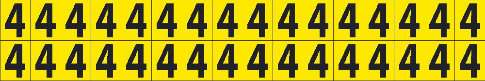 Self-Adhesive Numbers 5/8