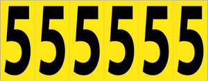 Self-Adhesive Numbers 3""