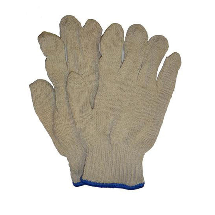 Natural White String Knit Gloves