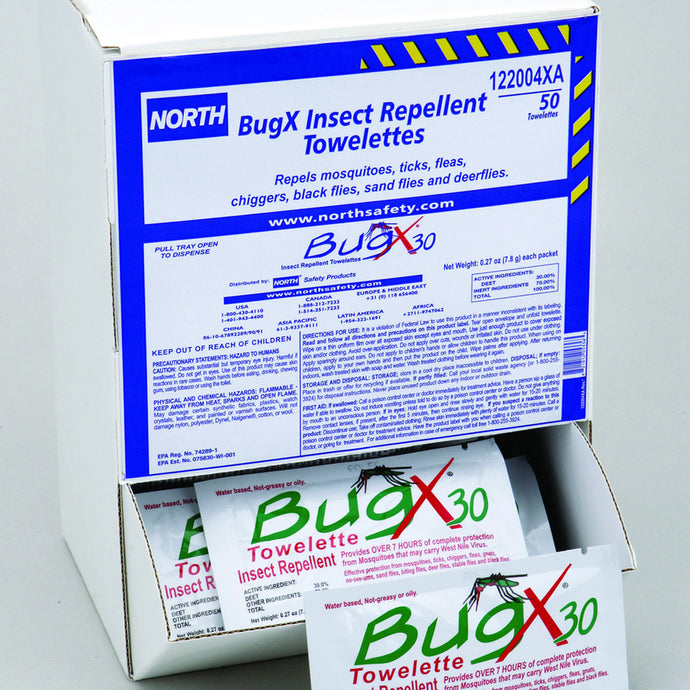 Honeywell 50 Pack Dispense Box BugX30 Insect Repellent Towelette (1 Box Insect Repellent - Pack)