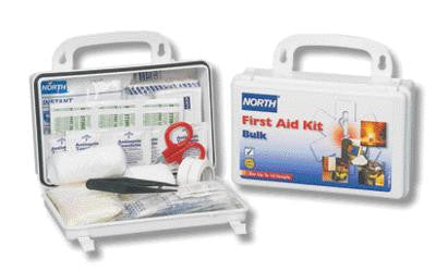 North Safety 10 Person Weatherproof Plastic Bulk First Aid Kit