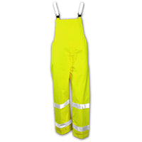 Vision™ Overall - Fluorescent Yellow-Green - Snap Fly Front - Silver Reflective Tape