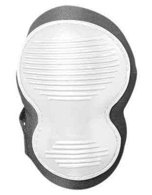 OccuNomix Black And White Classic Deluxe EVA Foam Knee Pad With Hook And Loop Closure And Non-Marring Rubber Cap