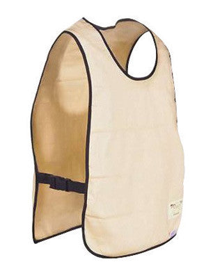 OccuNomix Beige MiraCool Cotton Reversible Cooling Vest With Hook And Loop Closure And Super Absorbent Cooling Crystals