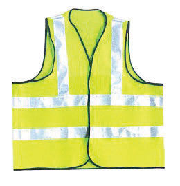 OccuNomix 2X Hi-Viz Yellow OccuLux Premium Light Weight Solid Cool Polyester Tricot Class 2 Dual Stripe Full Sleeveless Traffic Vest With Front Hook And Loop Closure And