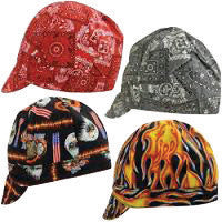 OccuNomix Assorted Color Tuff Nougies 100% Cotton Traditional Hard Billed Welder's Cap