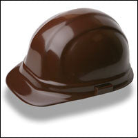 ERB Safety - Omega II - 6-pt Ratchet Hard Hat Safety Helmet - Brown