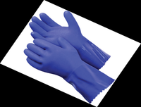 "Task Gloves -Oil Task Blue Guardian Rough finish 12"" Triple dipped PVC coating, cotton liner Gloves"