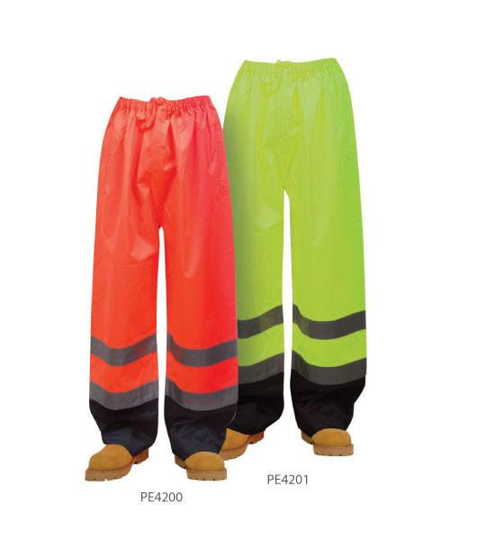 3A Safety PE4201 5XL ANSI E Class Waterproof Pants, Lime