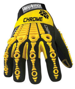 HexArmor Size 11 Black And Yellow Chrome Series Clute Cut SuperFabric And Leather Reusable 360° Cut Resistant Gloves With Elastic Cuff, SuperFabric Lined And PVC Printed Synthetic Leather Palm