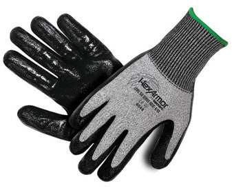 HexArmor Level 6 Series SuperFabric Cut Resistant Gloves With Flat Nitrile Palm Coating