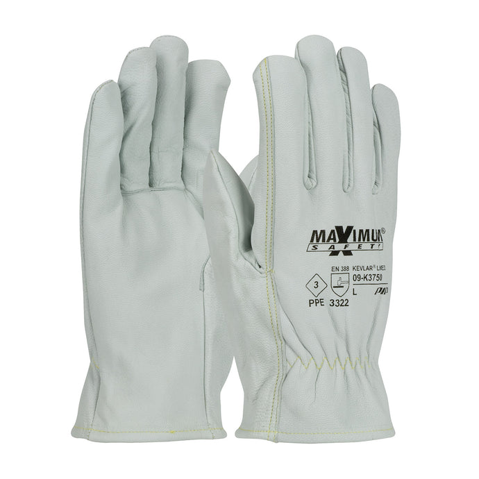 Protective Industrial Products-MAXIMUM SAFETY® ARC RATED TOP GRAIN GOATSKIN DRIVERS, STRAIGHT THUMB KEVLAR® LINED GLOVES.