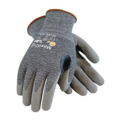 Protective Industrial Products Large MaxiCut 3 By ATG Cut Resistant Gray Micro-Foam Nitrile Palm And Fingertip Coated Work Gloves With Gray Seamless Glass, Polyester, Lycra And