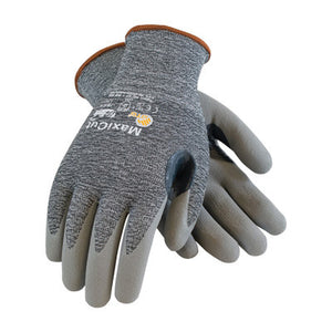 Protective Industrial Products Small MaxiCut 3 By ATG Cut Resistant Gray Micro-Foam Nitrile Palm And Fingertip Coated Work Gloves With Gray Seamless Glass, Polyester, Lycra And
