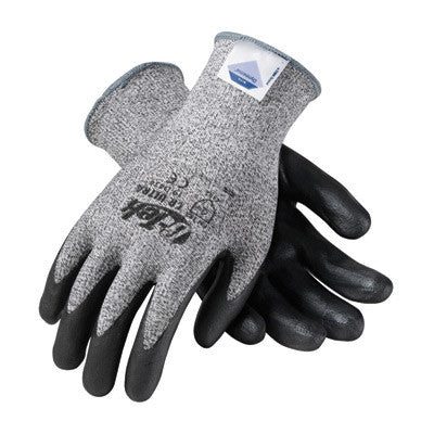 Protective Industrial Products Medium G-Tek CR Ultra 13 Gauge Cut Resistant Black Foam Nitrile Palm And Fingertip Coated Work Gloves With Gray Seamless Liner And Continuous Knit Cuff