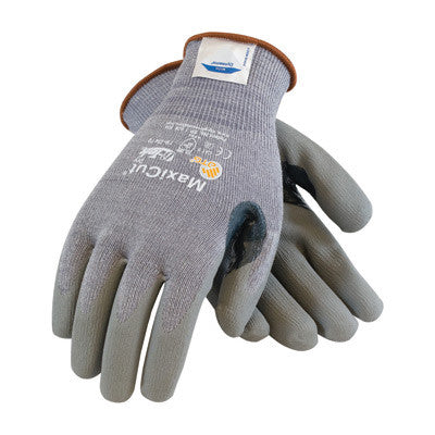 Protective Industrial Products Medium MaxiCut 5 By ATG Medium Weight Cut Resistant Gray Micro-Foam Nitrile Palm And Fingertip Coated Work Gloves With Gray Seamless Dyneema,