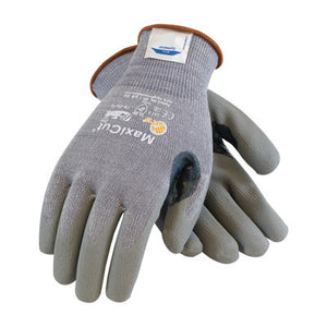 Protective Industrial Products 2X MaxiCut 5 By ATG Medium Weight Cut Resistant Gray Micro-Foam Nitrile Palm And Fingertip Coated Work Gloves With Gray Seamless Dyneema,