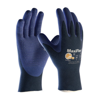 Protective Industrial Products X-Large MaxiFlex Elite by ATG Ultra Light Weight Blue Micro-Foam Nitrile Palm And Finger Tip Coated Work Glove With Blue Seamless