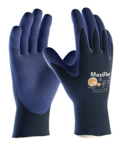 Protective Industrial Products X-Large MaxiFlex Elite by ATG Ultra Light Weight Blue Micro-Foam Nitrile Palm And Fingertip Coated Work Glove With Blue Seamless