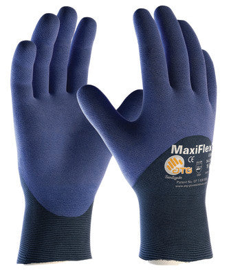 Protective Industrial Products Small MaxiFlex Elite by ATG Ultra Light Weight Blue Micro-Foam Nitrile Palm, Finger And Knuckle Coated Work Glove With Blue Seamless