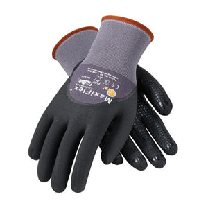 Protective Industrial Products 34-845/XL X-Large MaxiFlex Endurance by ATG 15 Gauge Abrasion Resistant Black Micro-Foam Nitrile Palm And Fingertip Coated Work Gloves With Gray Seamless Knit