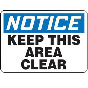 "Accuform Signs 10"" X 14"" Black, Blue And White 4 mils Adhesive Vinyl Admittance And Exit Sign ""NOTICE RESTRICTED AREA AUTHORIZED PERSONNEL ONLY"""