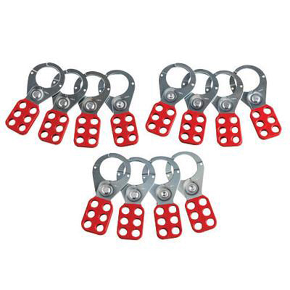 Brady Red Vinyl Coated High Tensile Steel Lockout Hasp With 1 1/2