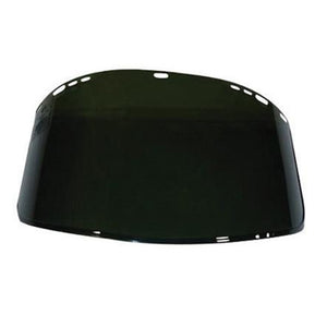 "Kimberly-Clark Professional* Jackson Safety* Model F40 9"" X 15 1/2"" X .06"" Dark Green Unbound Propionate Faceshield For Use With Headgear"